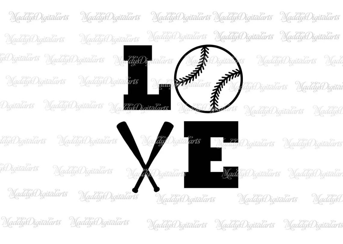 Download Love Baseball Svg, Baseball Svg, Love Softball Svg ...
