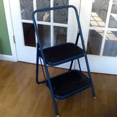 Folding Chair Ladder Outside Covers Kitchen Step Stool Red