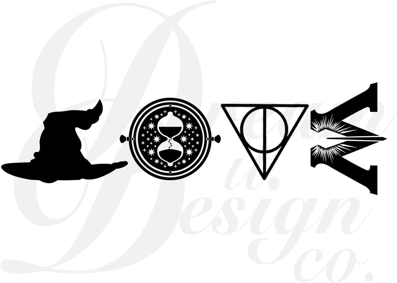 Harry Potter Love Design For Silhouette Studio Cut Files