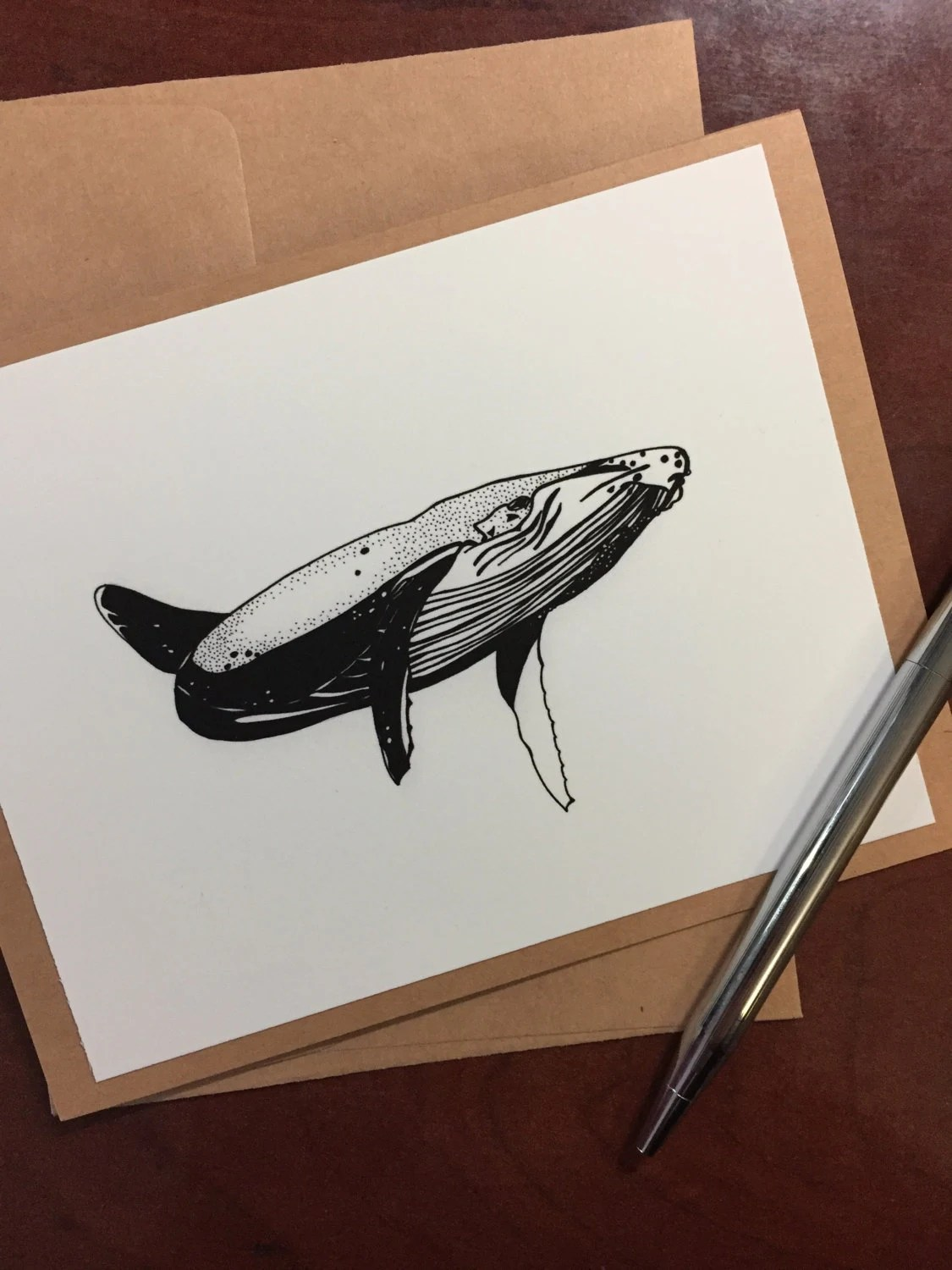 Wandering Whale Note Card...
