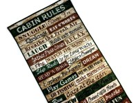 Cabin Rules Wall Hanging Fiber Art Quilt Woodland Decor