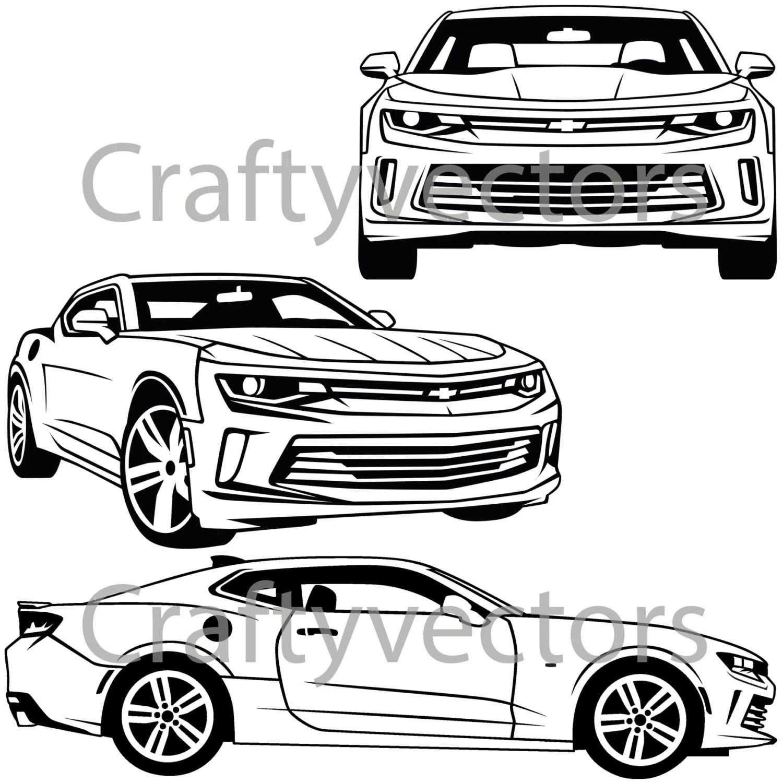 Chevrolet Camaro Vector Svg Cut File