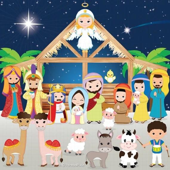 nativity clipart clip
