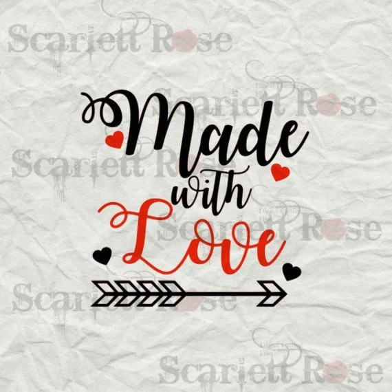 Download Made With Love SVG cutting file clipart in svg jpeg eps and