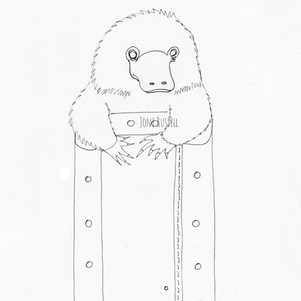 Niffler On Suitcase Digital Coloring Page From Illustrationsbyjoni On Etsy Studio