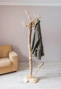 Coat rack Free standing driftwood coat stand Rustic coat