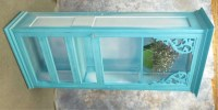 Teal Door Cabinet Display Case Kitchen Pantry Cupboard Island
