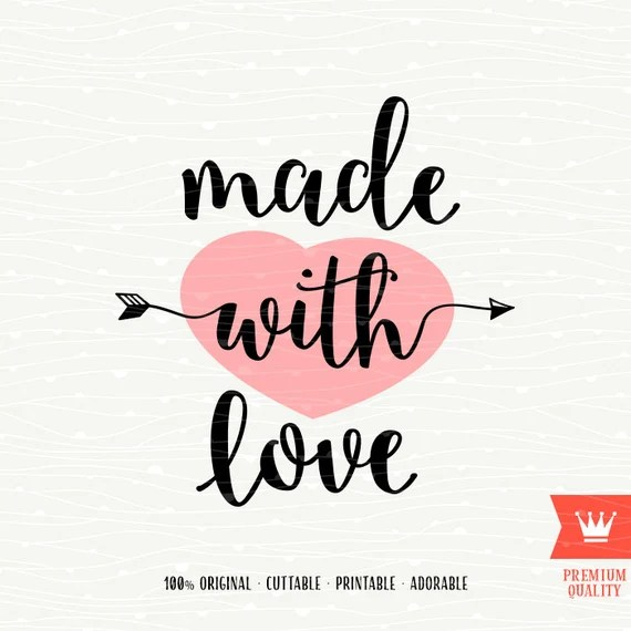 Download Made With Love SVG Decal Cutting File New Baby Girl Newborn