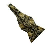 Black Gold Paisley 2.5 Silk Self-tie Bow Tie Alpha Phi Alpha