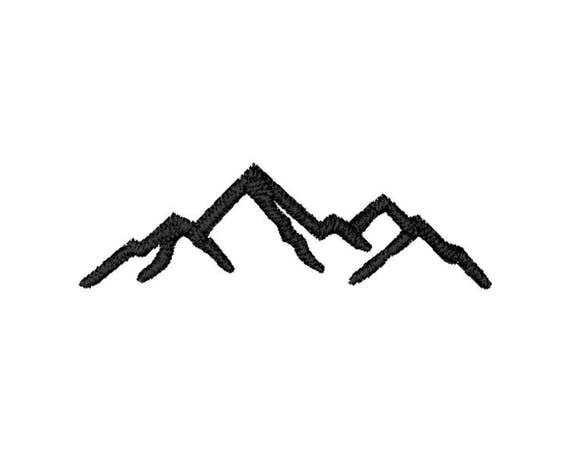 Mountains Machine Embroidery Design