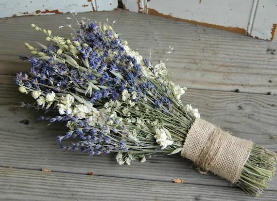 Bridal Bouquet / Dried Lavender Bouquet / Dried Flower Bouquet