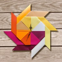 origami clock orange clock origami home decor origami art