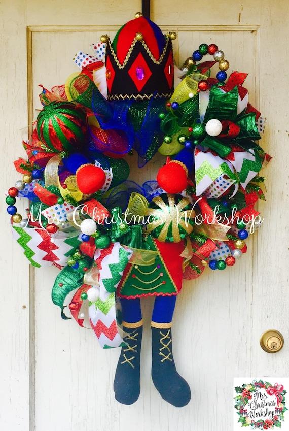 Christmas Wreath Nutcracker Wreath Toy Soldier Wreath Deco