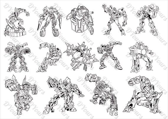 Transformers 14 Vector Models svg cdr ai pdf files Instant