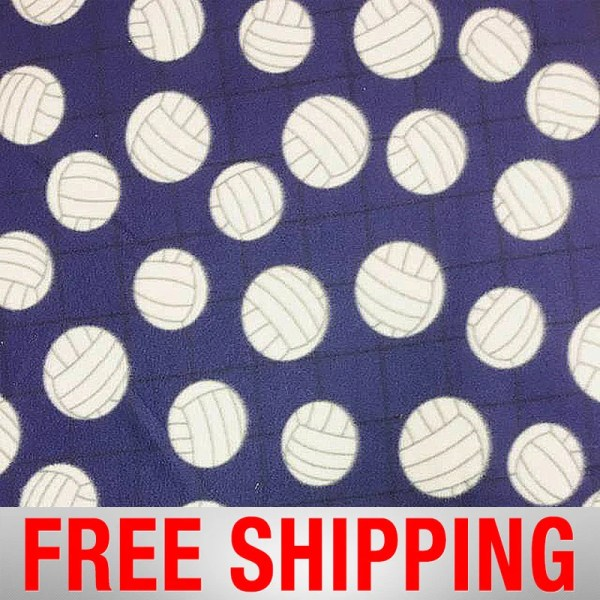 Fleece Fabric Volleyball Purple Style 1072 Free Shipping