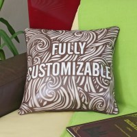 Faux leather CUSTOM PILLOW, personalized pillow cover ...
