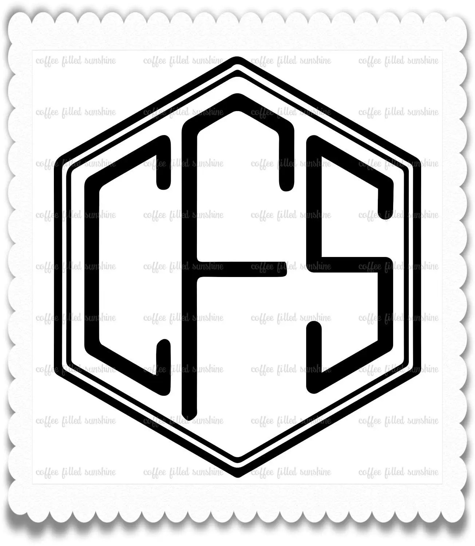 DIAMOND POINT MONOGRAM, Digital Cut File, Diamond Font