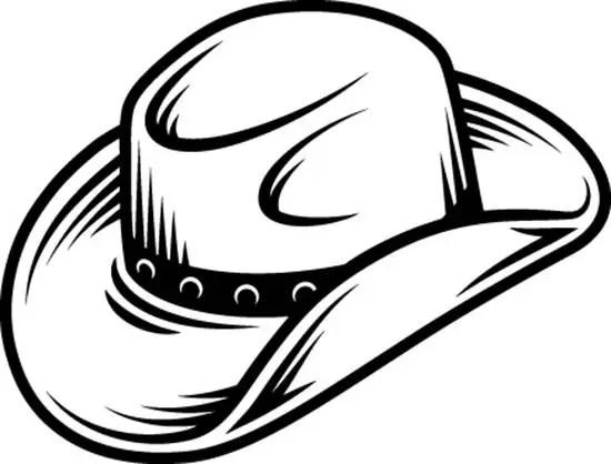 Cowboy Hat 2 Leather Felt Cap Country Western Horse Bull