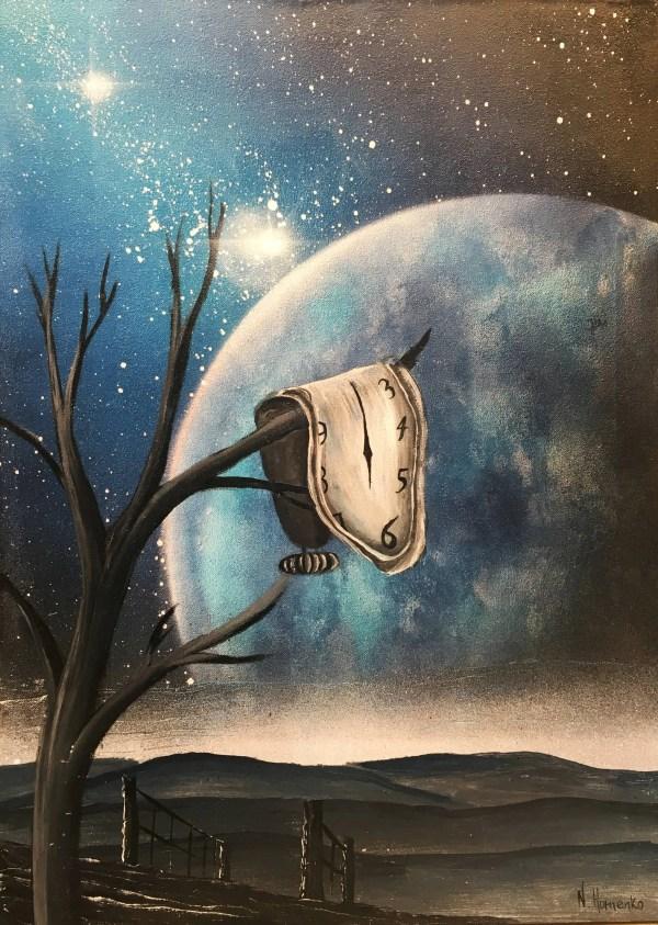 Salvador Dali Clock Painting