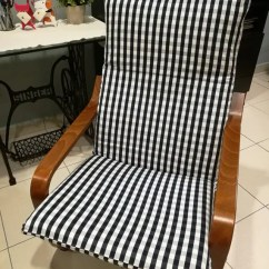 Poang Chair Covers Etsy Beauty Shop Chairs Ikea Cushion Cover Checkered Blue