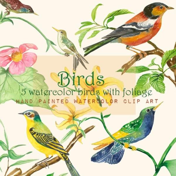 bird clip art printable birds