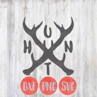 Hunting Svg Rustic Deer Antler Vinyl Cut File Designs Home