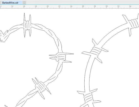 Barbed Wire Set dxf svg files plasma cutting CNC laser