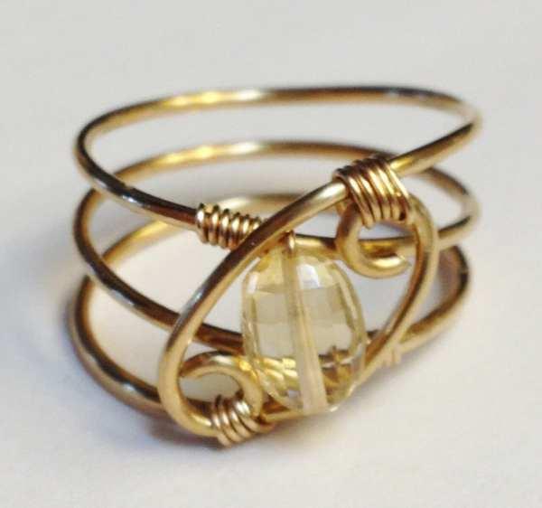 Citrine Ring Jewelry November Birthstone 14k Gold