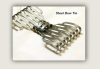 Metal Neck Bow Tie Steel