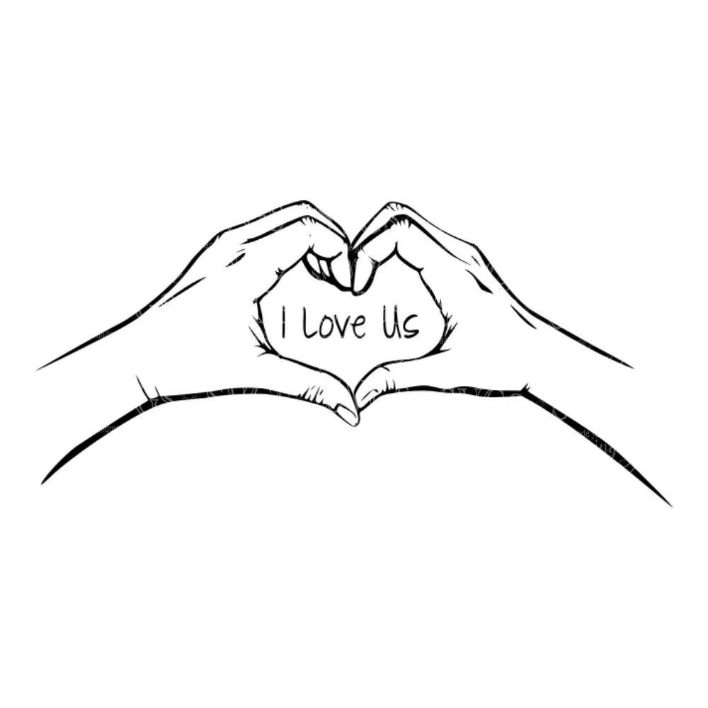 Download SVG - I Love Us - Hear Hands - Hands Heart - Wedding Decal ...
