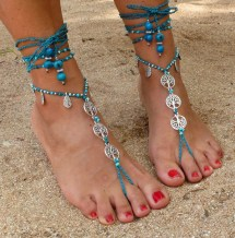 Tree Of Life Barefoot Sandals Turquoise-foot Jewelry-hippie