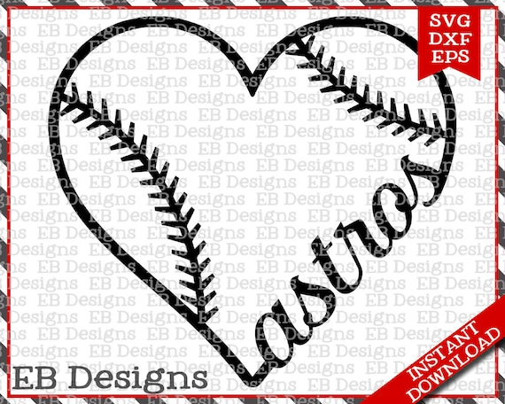 Download Astros Baseball Love SVG DXF EPS Cutting Machine Files