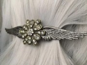 angel wing hair clip