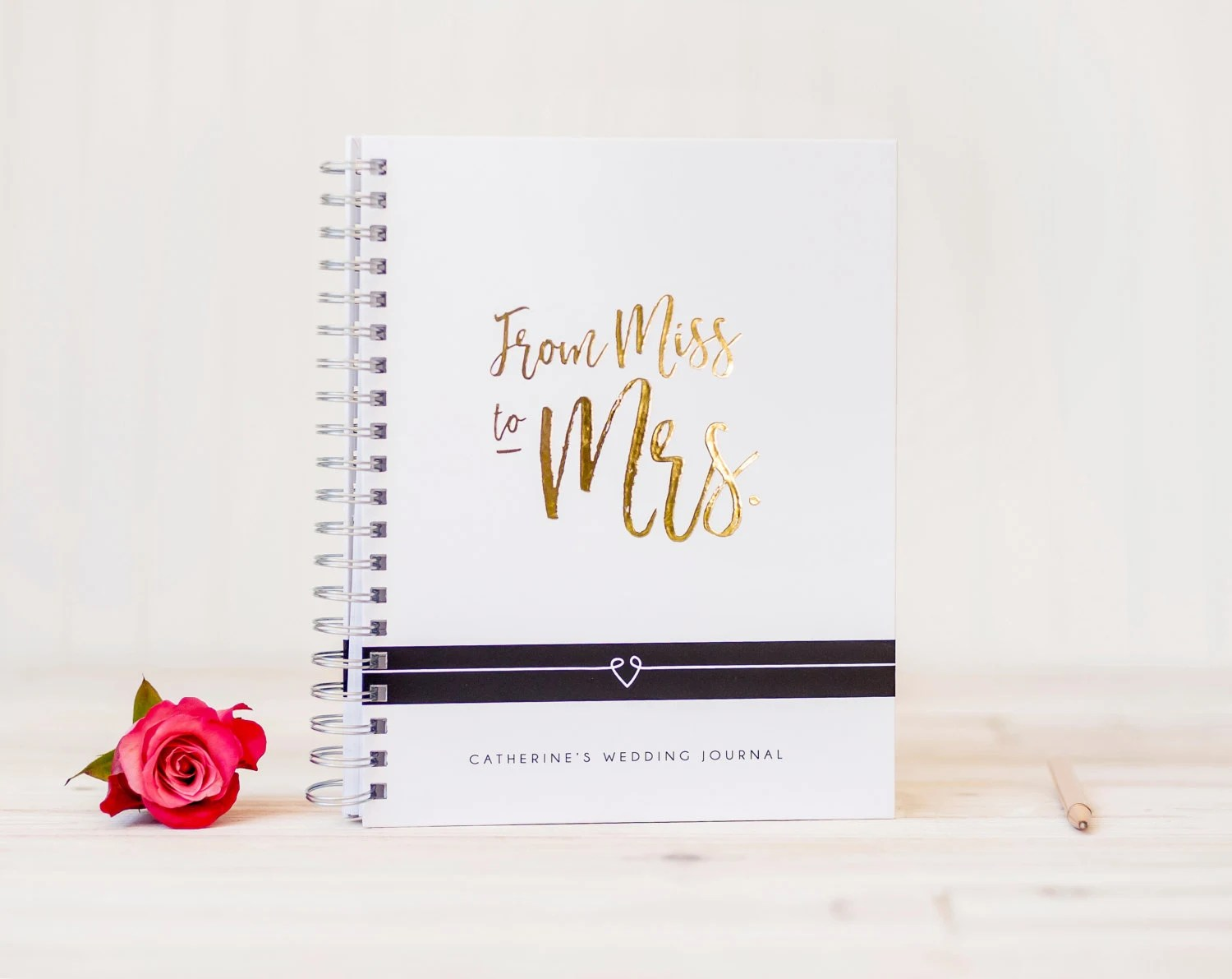 Wedding Planner Book Gold Foil Miss To Mrs Wedding Journal