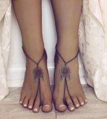 Brass Dreamcatcher Barefoot Sandals Bohemian Jewelry Boho Foot