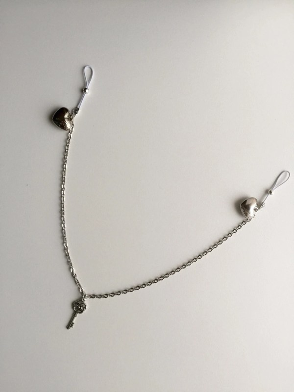 Nipple Clamps With Chain Pierced Jewellery Body