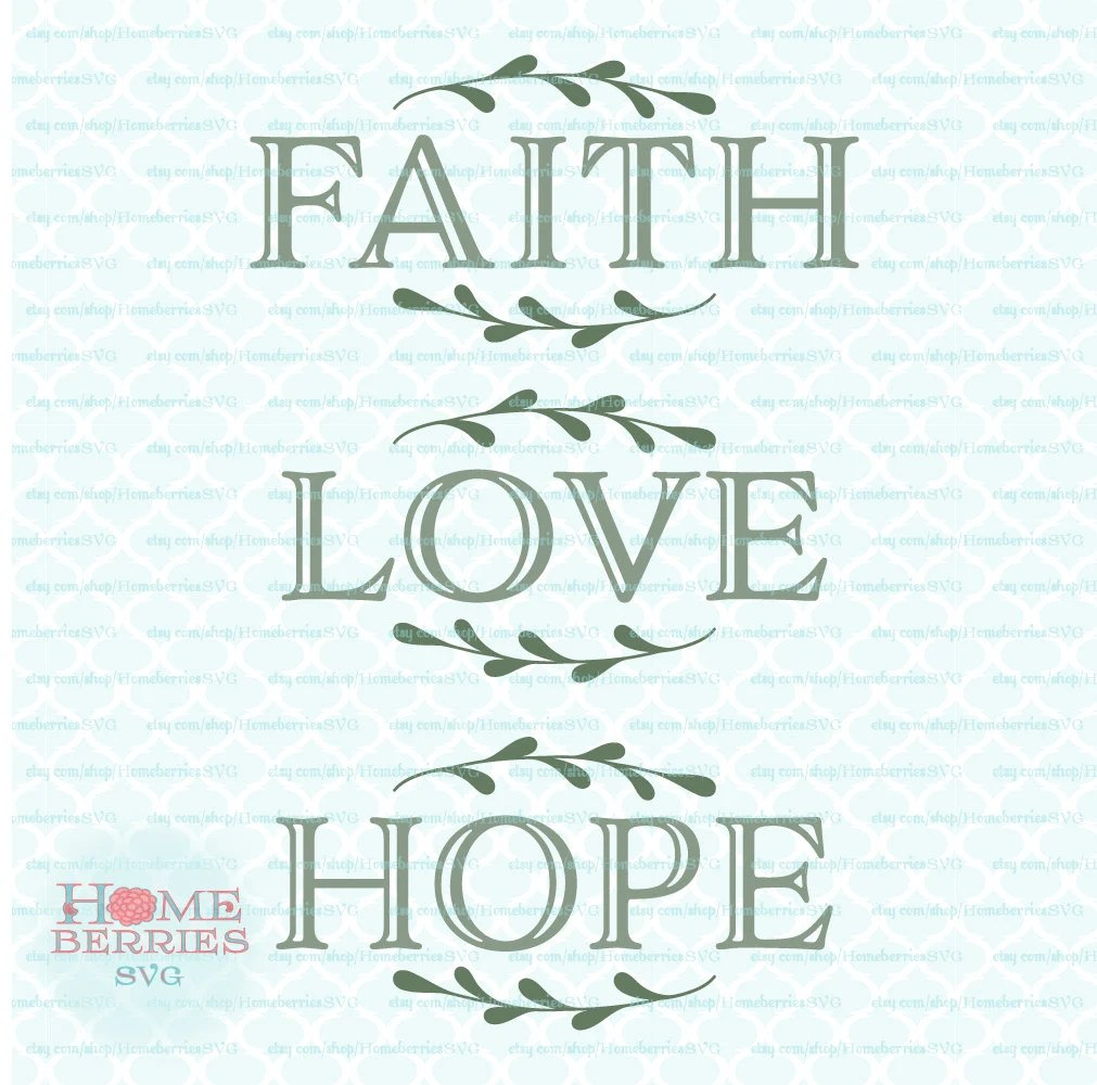 Download Faith Hope Love Bundle Christian Religious Sign Ideas svg dxf