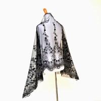 Black formal wrap evening shawls elegant wraps black sheer