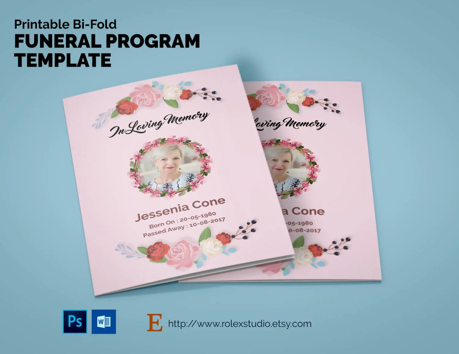 create your own obituary template