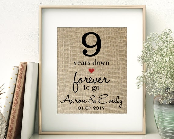 9 Years Down Forever To Go 9th Ninth Wedding Anniversary