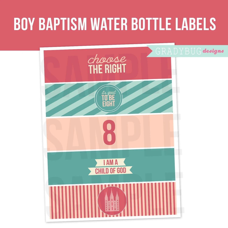 Lds Girl Baptism Water Bottle Labels Printable Drink