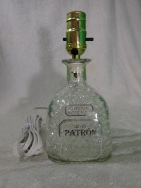 Patron Tequila Bottle Lamp Gorgeous Great For Home Bar