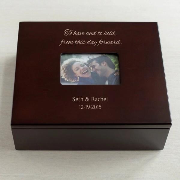 Personalized Wedding Keepsake Box with Photo: by ...