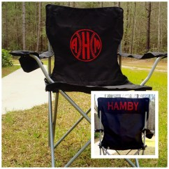 Personalized Camping Chairs Wedding Chair Covers Hire Portsmouth Monogrammed Camp Softball Baseball Groomsman