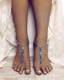 Rhinestone Barefoot Sandals Foot Jewelry