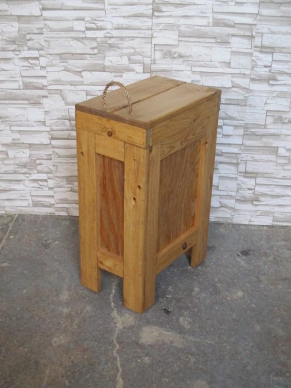 Wooden Kitchen Trash Bin Garbage Can