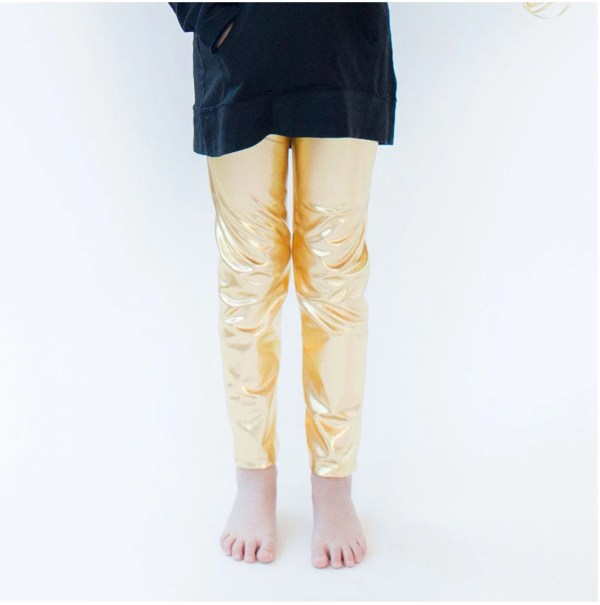 Gold Leggings Kids Girl'