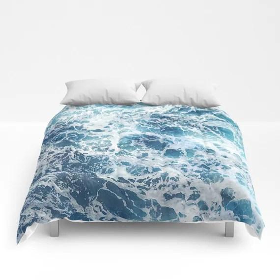 Blue Water Comforter Ocean Duvet Cover Full Queen King Sea