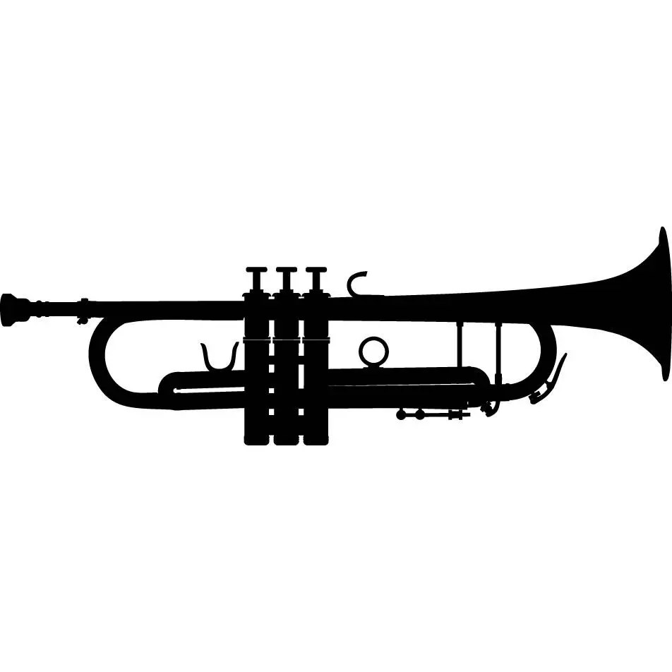 Trumpet #1 Musical Instrument Classical Jazz Music .SVG