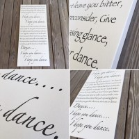 I hope you dance Customized Canvas Wall Art LARGE Canvas